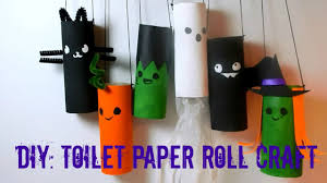 Halloween Decorations Arts And Crafts Diy Halloween Toilet Paper Roll Craft Recycle Youtube