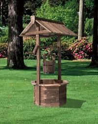 stonegate designs wooden wishing well planter u2014 burnt finish