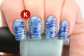 blue fan brush nails 40 great nail art ideas kerruticles
