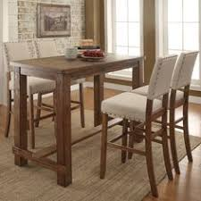 Round Pub Table Set Bring This Counter Height Dining Room Table Into Your Home For A