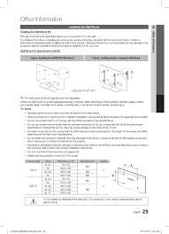 samsung tv wall mount kit other information samsung ln32d403e2dxza user manual page 25 35
