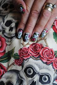 29 best dia de los muertos nail art images on pinterest sugar
