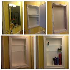 can you paint a metal medicine cabinet converted metal medicine cabinet into open shelves i
