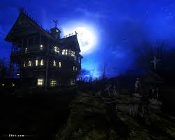 spooky screensaver dark forest mansion screensaver