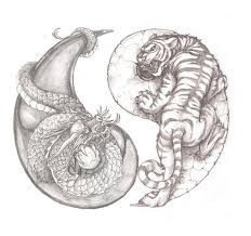 awesome tiger and yin yang idea