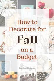 to decorate for fall on a budget