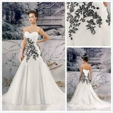 Black And White Wedding Dress White Wedding Dresses White Weddings And Wedding Dressses On