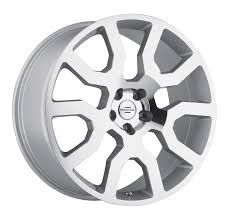 white land rover lr4 with black wheels range rover rims by redbourne