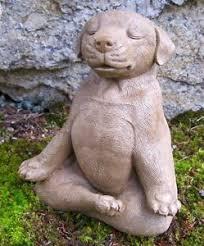 Cement Garden Decor Meditating Dog Statue Zen Yoga Dog Cement Garden Statue Concrete