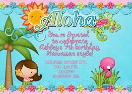 Invitation Card Party Birthday Luau Birthday Party Invitations Kawaiitheo Com
