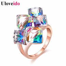 engagement rings stones images Buy uloveido ladies fashion blue engagement rings jpg