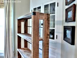 our vintage home love salvaged wood shelving