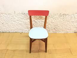 mobilier de bistrot chaise de bistrot en bois et formica bleu ciel 1960 design market