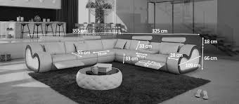 canap avec repose pied canapé d angle relax xl atco avec tablette repose verres gdegdesign