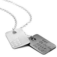 men u0027s personalised silver tag necklace by chambers u0026 beau