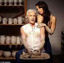 film ghost scene pottery dancing on ice host phillip schofield isn t seduced by christine