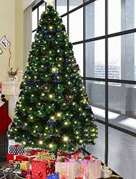 6ft pre lit christmas tree goplus 6ft artificial christmas tree pre lit optical fiber tree 8