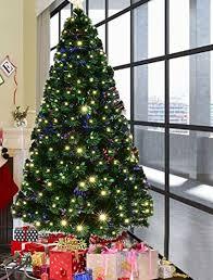 pre lit artificial christmas trees goplus 6ft artificial christmas tree pre lit optical fiber tree 8