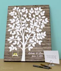 wedding tree guest book peachwik s cake toppers and guest book alternatives are so awesome