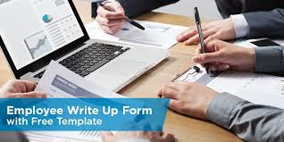 employee write up form with free template jpg