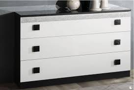commode chambre blanc laqué bahia laque blanc et noir ensemble chambre a coucher lignemeuble com