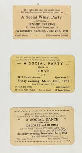 Invitation For Cards Party Rent Parties Langston Hughes U0027 Collection Of Rent Party Cards Photo