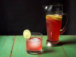 Party Pitcher Cocktails - pitcher drinks hibiscus tequila cooler serious eats