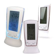 modern digital alarm clock unique thermometer backlight led screen