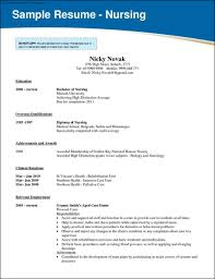 Nursing Resume Objective Resume To Get Into Nursing Resume For Your Job Application