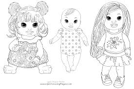 baby alive baby dolls coloring girls coloring pages