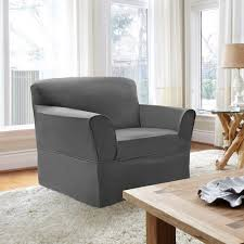 Armchair Slip Cover Coverworks Tara Box Cushion Armchair Slipcover Walmart Com