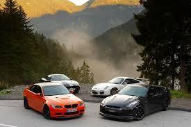 nissan gtr vs bmw m3 gts v porsche 911 gt3 rs v nissan gt r spec v v jaguar xkr