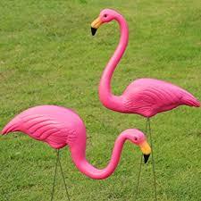 pink flamingo lawn ornaments popamazing 2pcs plastic simulation flamingo ornaments lawn bird