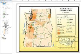 Oregon Volcano Map by Gis Portfolio Charles L Carlson