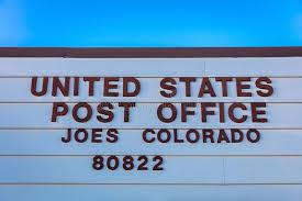 code bureau de poste bureau de poste des usa dans joes le colorado code postal 80822