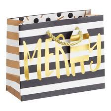 black and white striped gift bags black gift bags the container store