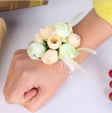 wedding wrist corsage floral wrist corsage bracelet for weddings 10 pcs gaia spot