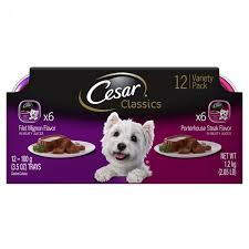 cesar cuisine cesar canine cuisine food beef variety pack 12 pack