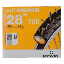 chambre a air auto 700x35 45 self repairing schrader inner décathlon