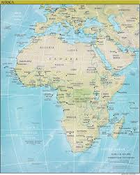 Physical Africa Map by Online Maps Africa Physical Map