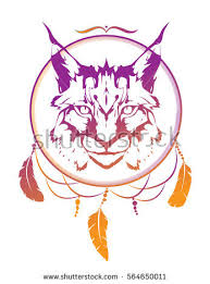 wild cat lynx totem animal aztec stock vector 564650011 shutterstock