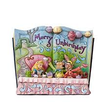 jim shore disney merry unbirthday in storybook