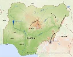 Niger River Map Nigeria Physical Map