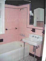 retro pink bathroom ideas pink tile bathroom ideas home planning ideas 2017