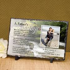 Condolence Gift Ideas A Father U0027s Goodbye Plaque Personalized Memorial Plaque Gift