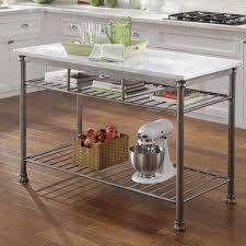 marble top kitchen island cart home styles orleans prep table with marble top reviews wayfair