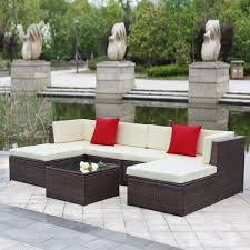 furniture ideas outdoor wicker patio furniture with red modern