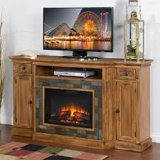 Tv Console Designs For Bedroom Sunny Designs Sedona Distressed Oak Fireplace Tv Console W 26