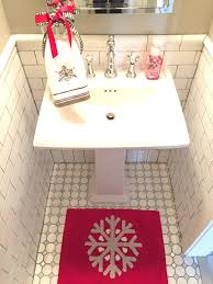 Christmas Bathroom Rugs Last Minute Christmas Decor Not To Be Confused With My Holiday