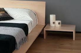 compact low nightstand for platform bed bedroom nightstand ideas